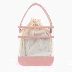 [패턴파우치증정]멜리 PVC 토트백 핑크