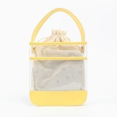 [패턴파우치증정]멜리 PVC 토트백 옐로우