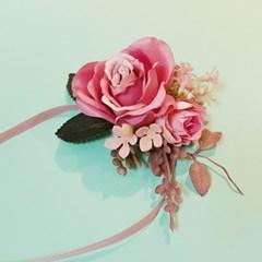[브라이덜샤워 파티용품 꽃팔찌] 블리스 꽃팔찌