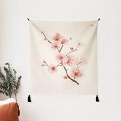 벚꽃 일러스트 패브릭 포스터 / 가리개 커튼