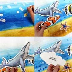 [아티바바] 열대어와 고래 색칠보드/색칠공부 칼라링_(960773)