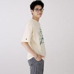 스웩버 3514 레이저 오버핏 티셔츠 크림_(2399142)