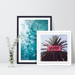 여름 바다 해변 풍경 포스터 vol.1_SB05(서프 야자수)