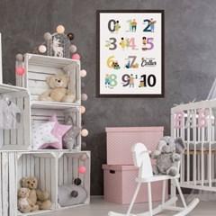 꼬레 학습 포스터/액자 아이방꾸미기 유아 벽보 그림 한글 숫자