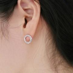 Infiniti circle earrings 小 (2colors)