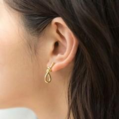knots grab earrings (2colors)