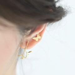 butterfly earrings (2colors)