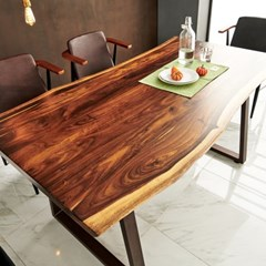 [데코마인] 아테나 우드슬랩 장미목 1800 테이블(기본다리형)