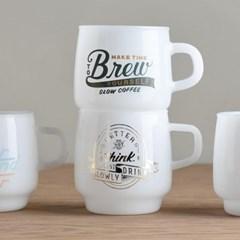 킨토 슬로우 커피 스타일 사인 페인트 머그 340ml 5타입_(1327735)