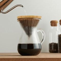 킨토 SCS 커피 카라페 세트 4컵 600ml 플라스틱 드리퍼_(1327731)