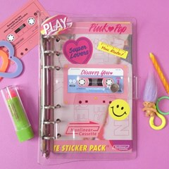 Cassette Sticker Pack_Pink Pop