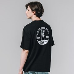 서퍼 나염 반팔 티셔츠 화이트_(3606035)