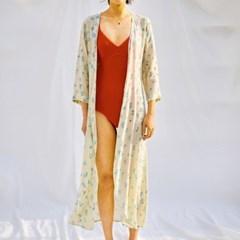 [Robe Dress] Berry - Cream Lemon