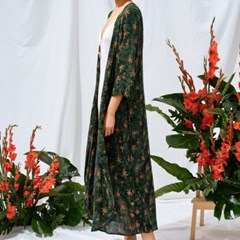 [Robe Dress] Palmtree - Deep Green