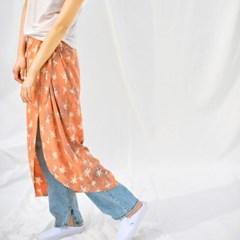 [Wrap Skirt] Palmtree - Peach