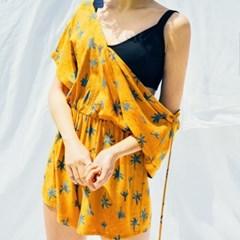 [Mini Jumpsuit] Palmtree - Amber