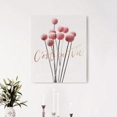 캔버스 레터링 꽃 그림 식물 인테리어 액자 볼 플라워