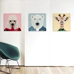캔버스 인테리어 아이방 그림 액자 동물 친구 북극곰