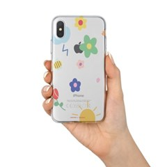 꽃 패턴 TPU 실리콘케이스 아이폰XS