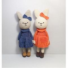 [손뜨개 DIY]손뜨개인형-토끼친구3