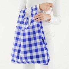 [바쿠백] 스탠다드 에코백 장바구니 Big Check Blue_(1645655)