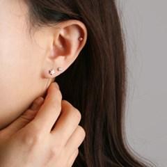 [925 실버]큐빅 스타 실버볼 세트 귀걸이=ER2112