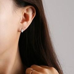 [925 실버]그린 나뭇잎 4종 세트 귀걸이=ER2110