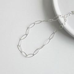오벌클립 발찌 (silver925)