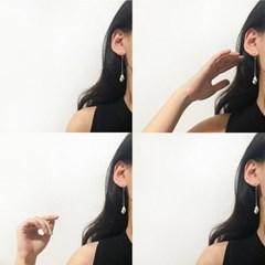 화이트 비치 쉘 귀걸이