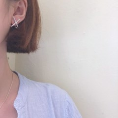 [링 귀걸이] 크로스라인 이어링