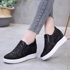 kami et muse Spangle lace tall up slip on sneakers_KM19s238