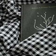kitsch black check Summer sheet