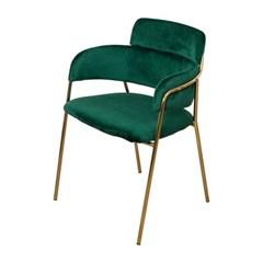 웨어하우스 임페리얼 벨벳 골드 철제 의자2