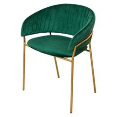웨어하우스 마르코 벨벳 골드 철제 의자2