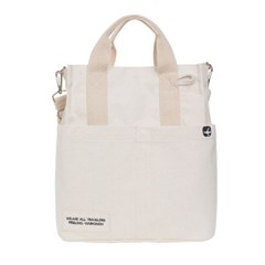 VIAMONOH DAILY CANVAS SHOULDER BAG (IVORY) 에코백 토_(1049045)