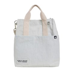 VIAMONOH DAILY CANVAS SHOULDER BAG (DENIM) 에코백 토_(1049043)