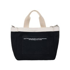 VIAMONOH DAILY MINI TOTE CANVAS BAG (BLACK) 에코백_(1049041)