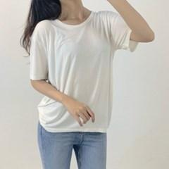 여름 기본 라운드 반팔 티셔츠