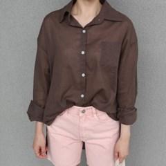 See-through boxy shirt