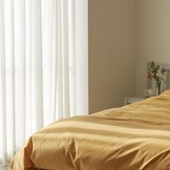80수 nuée cotton bedding Mustard