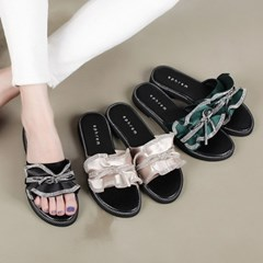 kami et muse Cubic ribbon frill slippers_KM19s248