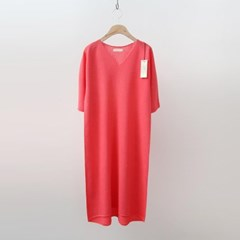 Hoega Linen V-Neck Knit Dress