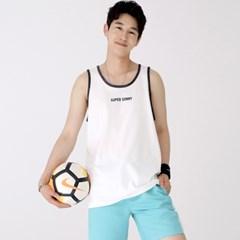 슬리버 3902 슈퍼소니 민소매 티셔츠 화이트_(2415017)