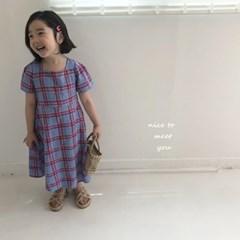 [아동](SU)체크뒤리본원피스[s-xxl]_(1591942)