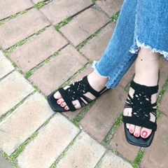 kami et muse Knoted top flat sandals_KM19s252