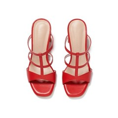 Wave T-strap Mule red_6cm,8cm (소가죽)
