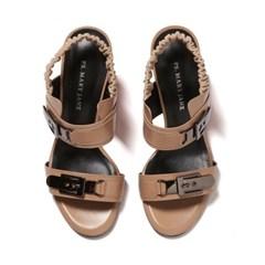 2 bending buckles sandal beige_7cm(소가죽)