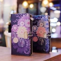 LG X6 2019 (LG X625) Encanto-Chic-T 지퍼 지갑 다이어리 케이스