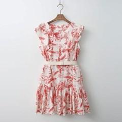 Hawaii Frill Mini Dress