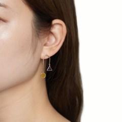 투명 도형 언발 귀걸이